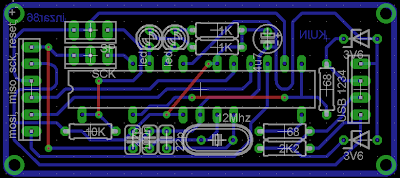 PCB - USBasp downloader for Microcontroller