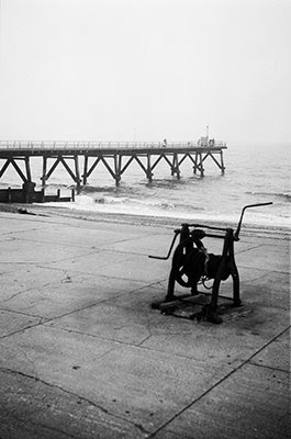 Winch and Pier ⓒ Cate McRae 2008; All Rights Reserved