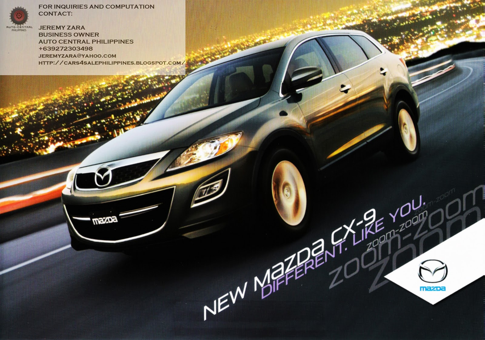 Cars For Sale Philippines Brand New: Brand New Cars For Sale: MAZDA CX9 BRAND NEW FOR SALE