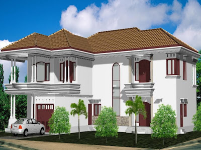 gambardesain3d: desain rumah 2 lantai type menengah