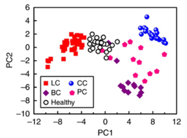 Olfactics and Olfactory Diagnostics: On cancers and petroleum spills