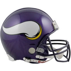 Nice shot of the new Vikings helmets. : nfl