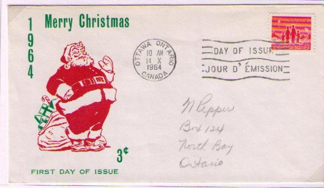 Postal History Corner 1964 Christmas