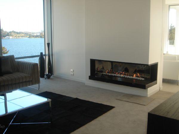 22 Ultra Modern Corner Fireplace Design Ideas: Casas Minimalistas Y Modernas: HOGARES MODERNOS