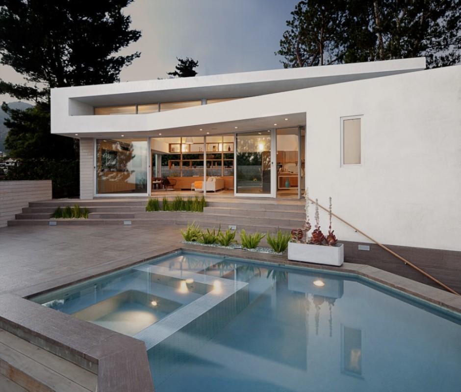Casas minimalistas y modernas frentes posteriores for Casa moderna 2 piani