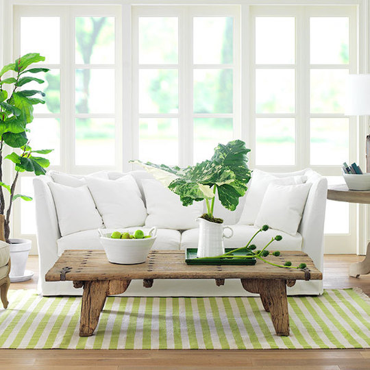 Estilo rustico peque as mesas diferentes estilos - Green living room ideas decorating ...