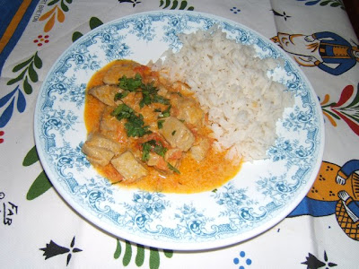 Curry de thon rouge avec riz créole