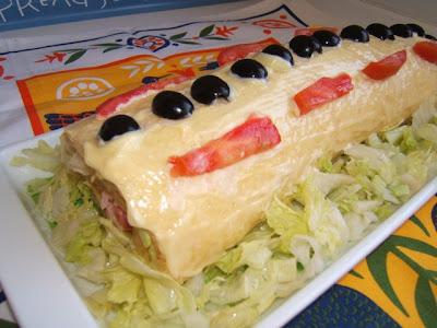 Pionono (gâteau roulé avec jambon et fromage)
