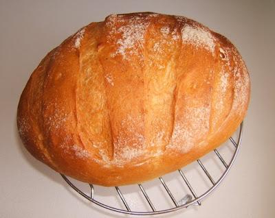 Miche de pain au poolish / Hogaza de pan con poolish