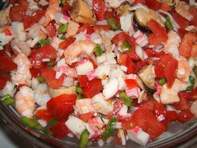 Salpicon avec fruits de mer / Salpicón de mariscos