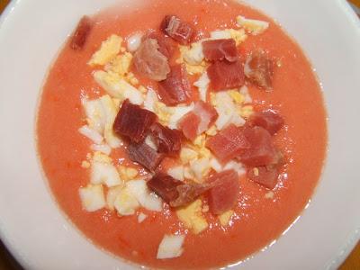 Salmorejo Cordobés / Soupe froide typique de la province de Cordoue