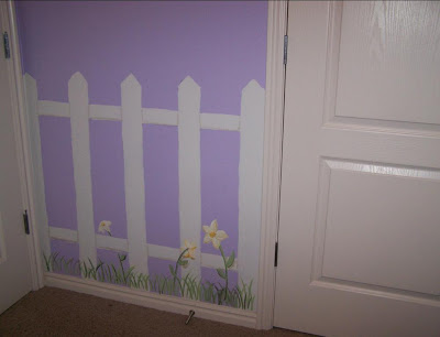 Bawden Fine Murals Picket Fence Room For A Little Girls Room
