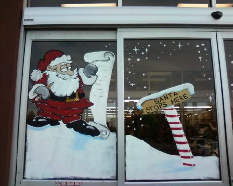 Bawden Fine Murals Window Painting Christmas And Holiday
