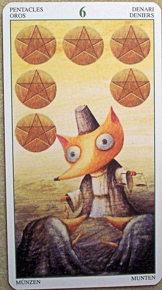 A Tarot Card: Tarot, Six of Pentacles