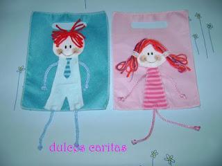 6bb64ac04 Bolsitas personalizadas para cumpleaños, realizadas en tela, en fliselina  con aplicaciones en diferentes tipos de tela para las nenas , hadas,  corazones, ...