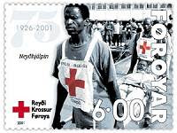 A Red Cross commemorative stamp from the Faroe Islands