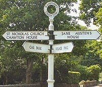 An old, British signpost