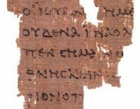 Early fragment of John's Gospel