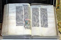 A handwritten Latin Bible from Malmesbury in England