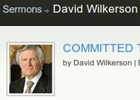 David Wilkerson Today