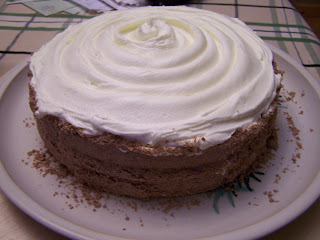 The Sides Of Cake Were Rolled In Shaved Chocolate MmmmmI Wish There Was A Slice Left To Have Right Now