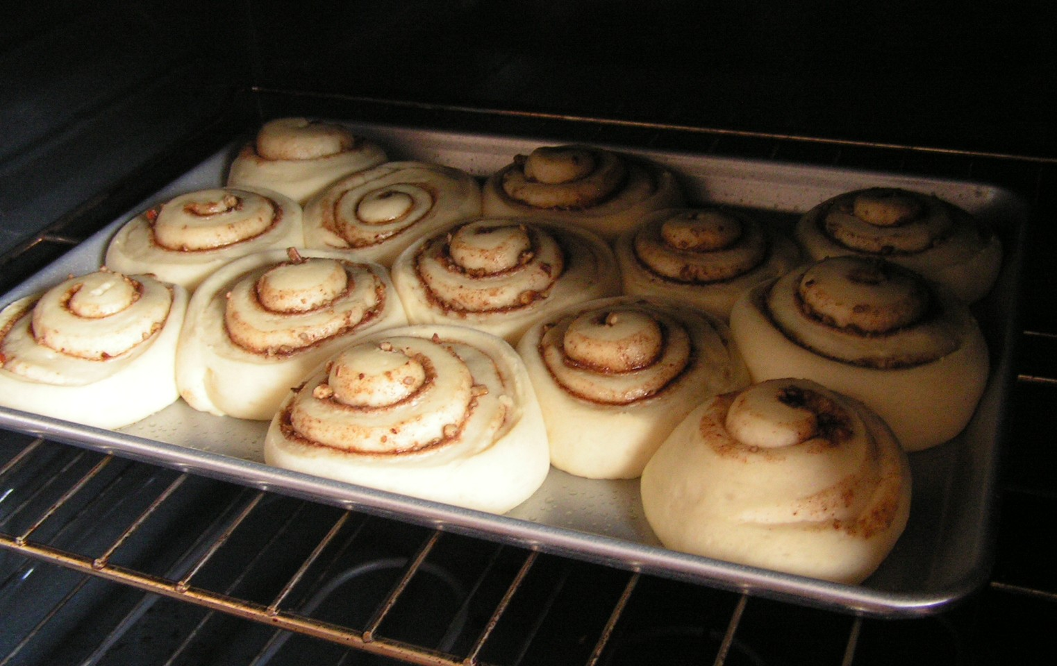 Homemade Cinnamon Rolls Butter With A Side Of Bread