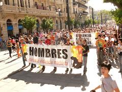 Manifestación hombres por la igualdad