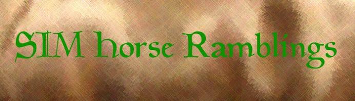 Sim Horse Ramblings