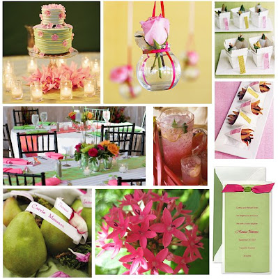 this post began as a pink and green baby shower but i realized it