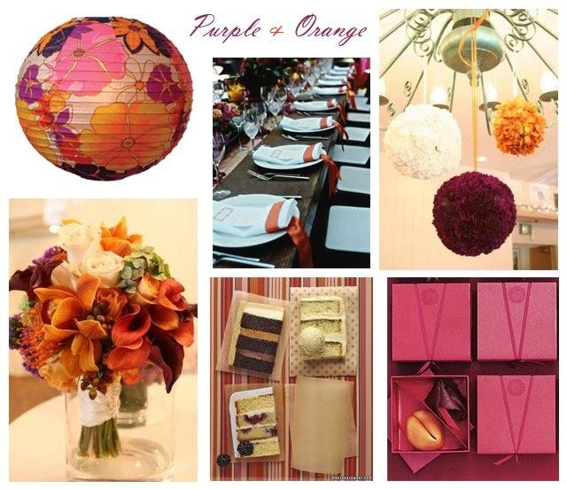 Purple Orange Wedding Ideas: Event Ideas & Inspiration: A