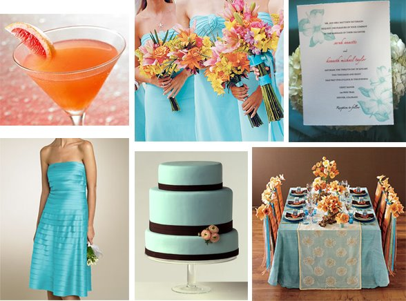Brown And Teal Wedding Ideas: Decorating Life: Wedding: Teal&Orange