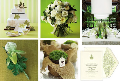Brown and Green Wedding Centerpieces