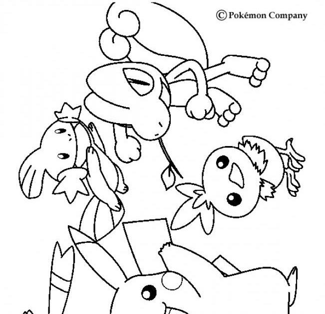 POKEMON COLORING PAGES: Pokemon Coloring page-living Together