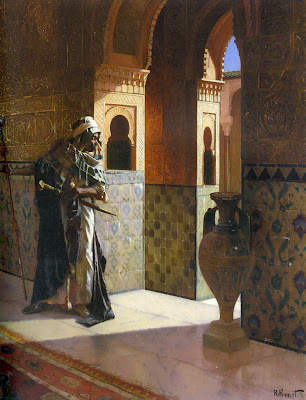 The_Moorish_Guard_The_Alhambra_Oil_On_Panel