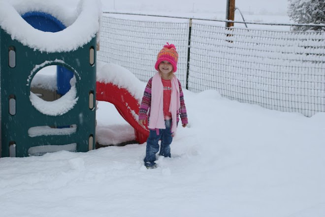 my cousin olivia in the snow