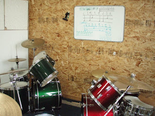Ladies Rock Camp Drum practice room