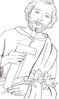 st joseph coloring page - waltzing matilda st joseph the worker coloring page