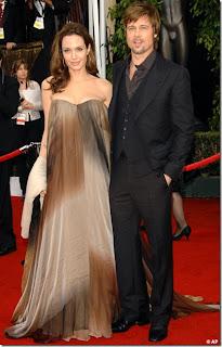 Angelina Jolie with Brad Pitt at SAG Awards