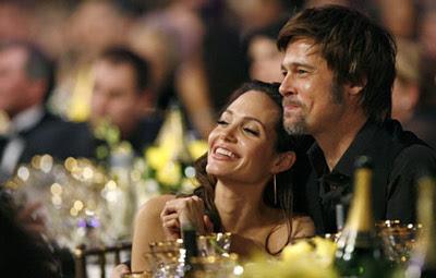 Angelina Jolie and Brad Pitt at SAG Awards 2008