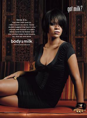 Rihanna sports a Milk Mustache for Got Milk? Ad