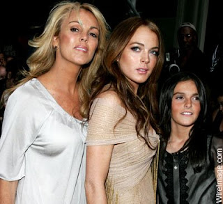 Dina Lohan with her Daughters Lindsay and Ali Lohan