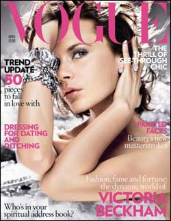 Victoria Beckham on British Vogue Magazine Cover