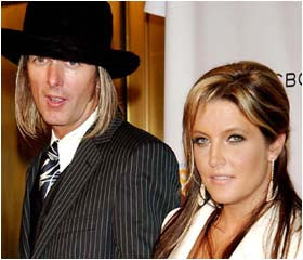 Lisa Marie Presley with Michael Lockwood
