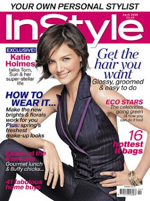 Katie Holmes on In Style Magazine Cover