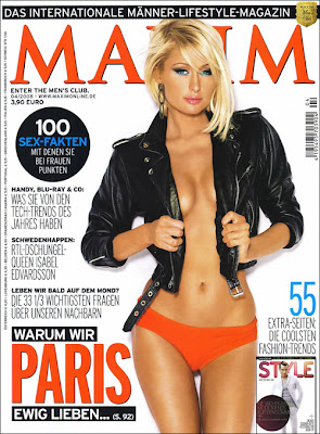 Paris Hilton Maxim Magazine Germany Cover