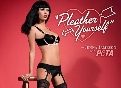 Jenna Jameson PETA Pleather Yourself Ad