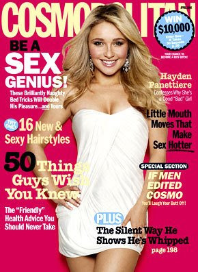 Hayden Panettiere on the cover of Cosmopolitan Magazine