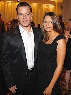 Matt Damon and wife Luciana Barroso Picture