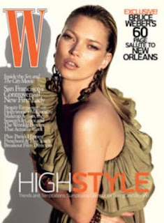 Kate Moss W Magazine April 2008 Cover Girl