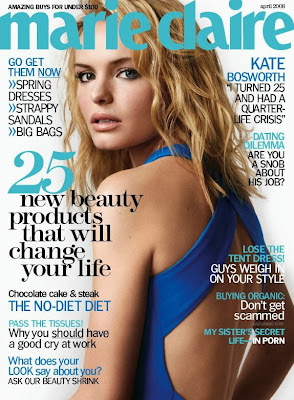 Kate Bosworth Marie Claire April 2008 Cover